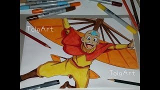 Drawing Aang - Avatar The last Airbender (HD)