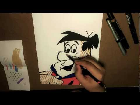 Pop Art Drawing - FRED FLINSTONE [Bleebo ART]