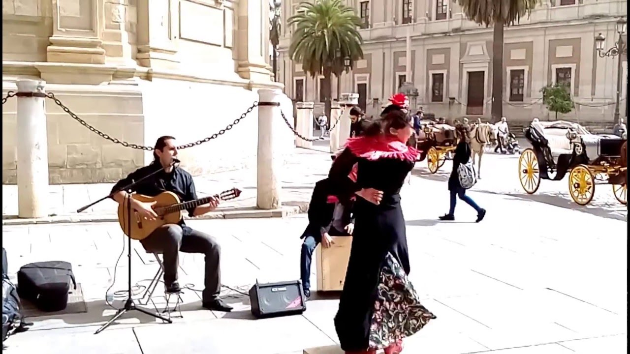 Flamenco en la calle de sevilla 1 tiriti tran tran - Calle correduria sevilla ...
