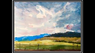 Malen mit Aquarell: Schnelle Landschaftsskizze