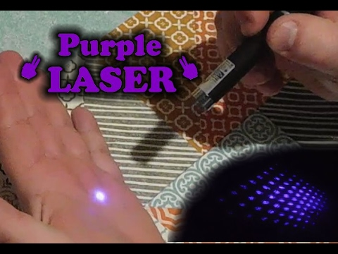 Review of CHEAP 5mw 405nm Purple Light Laser Pointer