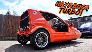 THIS *SUZUKI HAYABUSA TURBO* POWERED 3 WHEELER IS PURE EVIL!!