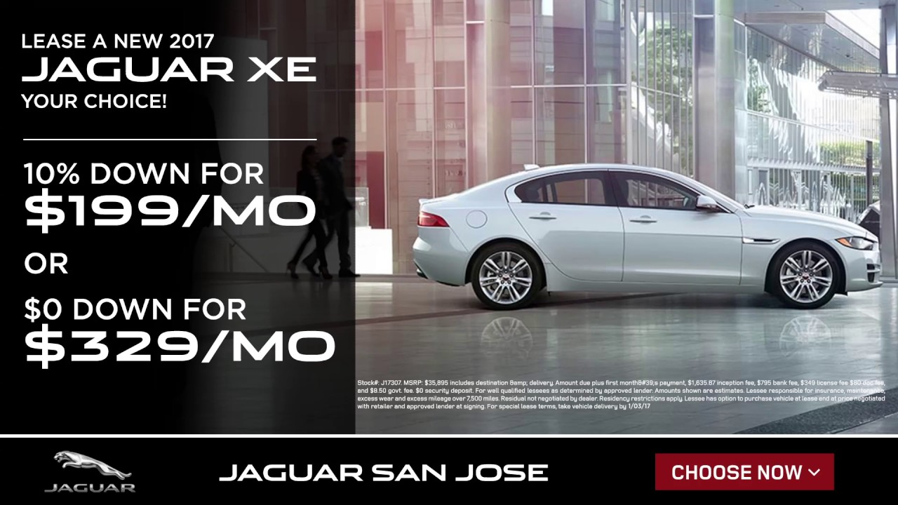 Lease A New 2017 Jaguar XE   YouTube