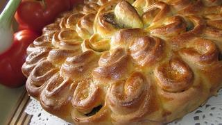 Мясной пирог Хризантема - вкусный простой рецепт