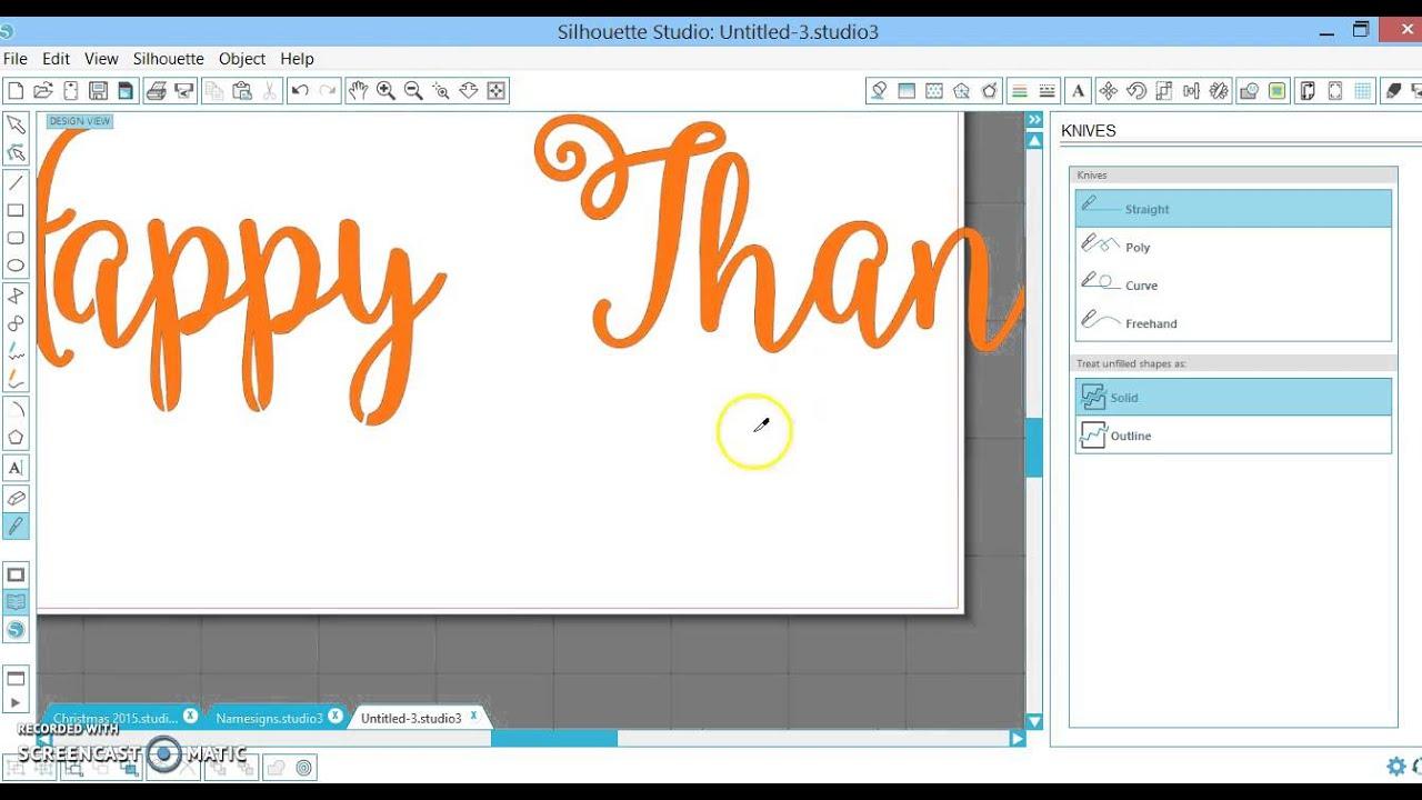 Silhouette Studio: Cardstock paper for stencils