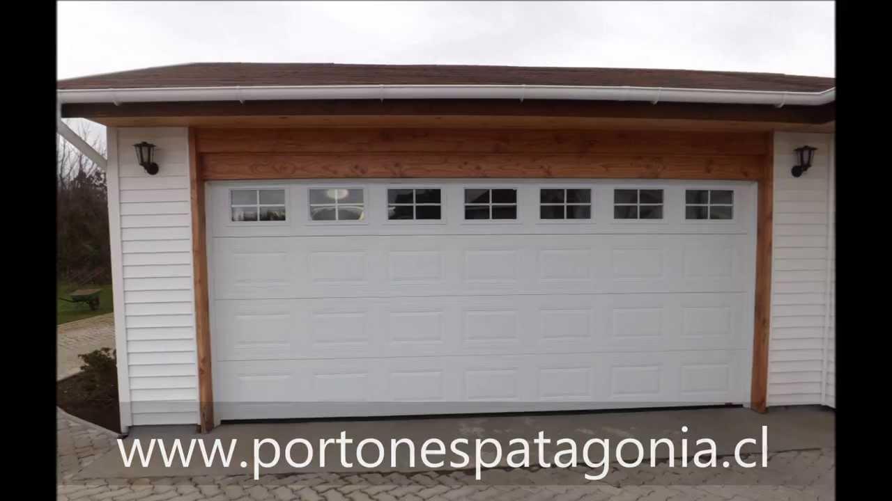 Portones patagonia port n de garaje en chile port n for Modelos de portones metalicos para casas