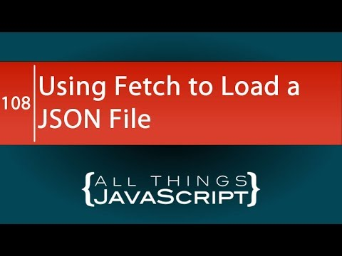 JavaScript Tip: Using fetch to Load a JSON File thumbnail