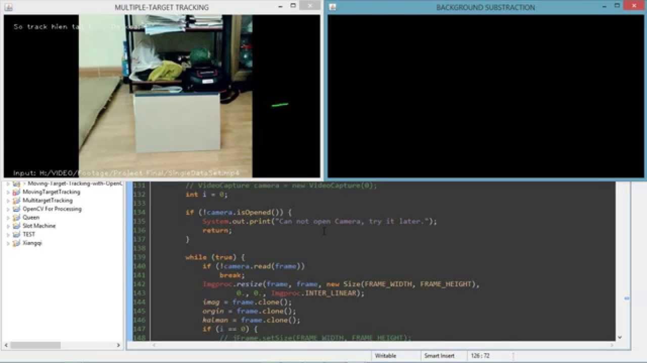 Target Tracking with Kalman Filter - OpenCV - Java