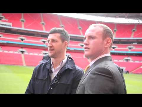 CARL FROCH 'SHOVES' GEORGE GROVES AS TEMPERS FLARE PITCHSIDE @ WEMBLEY - EXCLUSIVE FOOTAGE