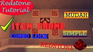 Tutorial Redstone | Kode Item Frame Door - Mudah dan Simple | Bahasa Indonesia |