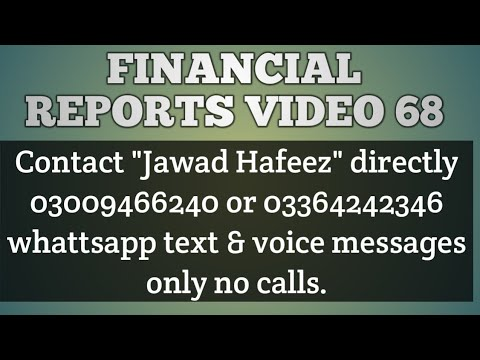 Financial Reports Video 68