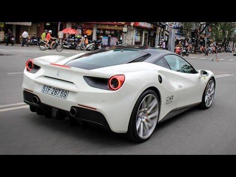 Cường Đô La Tăng Tốc Dữ Dội, Đốt Lốp Khi Chở Hạ Vi Trên Ferrari 488GTB Độ Mâm Vossen | XSX