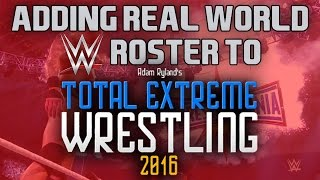 How to install a mod on Total Extreme Wrestling 2016| Real World WWE Roster | TEW 2016 Tutorial