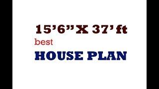 15.5 x37 ft BEST HOUSE PLAN