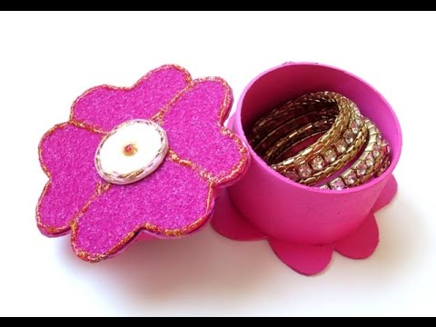 DIY : Flower Jewelry Box | Gift Box - Recycling Cardboard ...