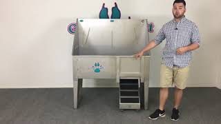 Groomers Best Dog Grooming Tub w Ramp at Dogtown Supply