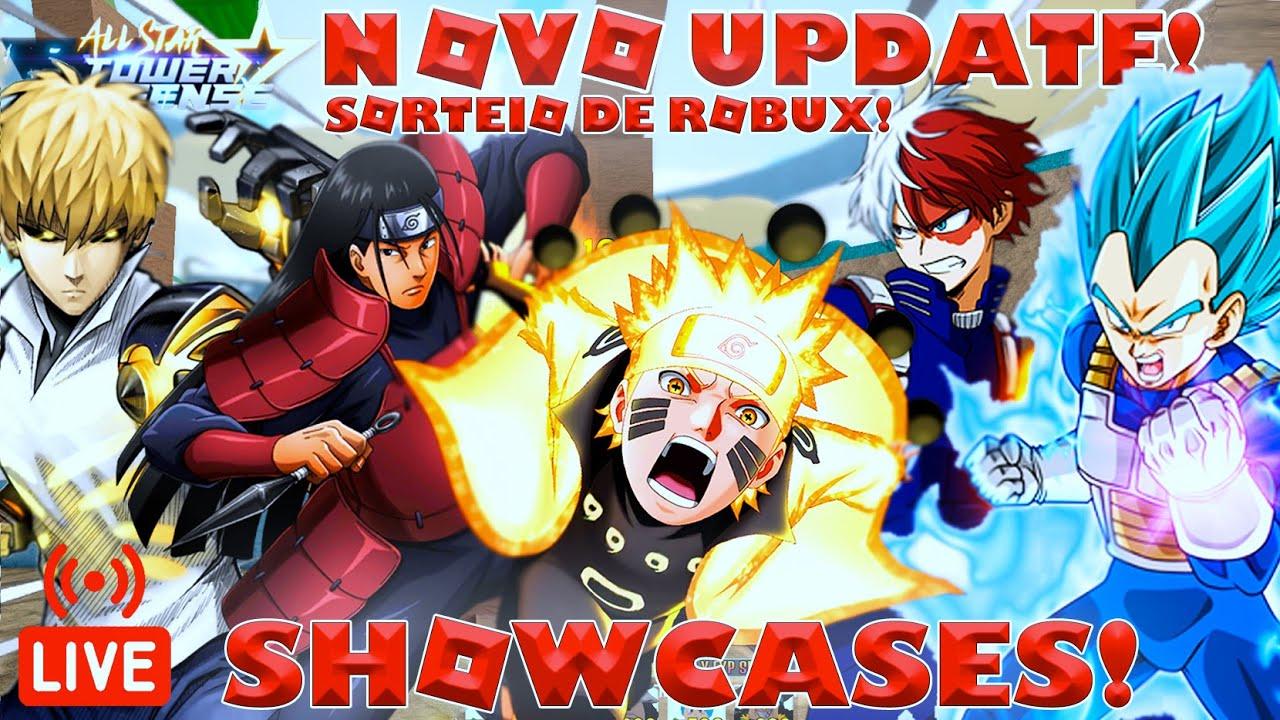 Download *SHOWCASES* NOVO UPDATE E NARUTO 6 ESTRELAS NO ALL STAR TOWER DEFENSE!