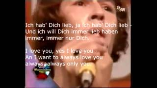 DU - Peter Maffay 1969  Lyrics with English Translation