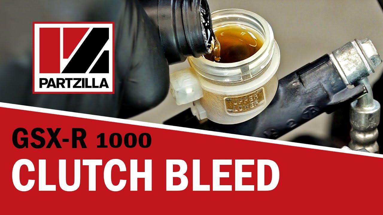 How to Bleed a Hydraulic Clutch on a Motorcycle | Suzuki GSXR 1000 |  Partzilla com