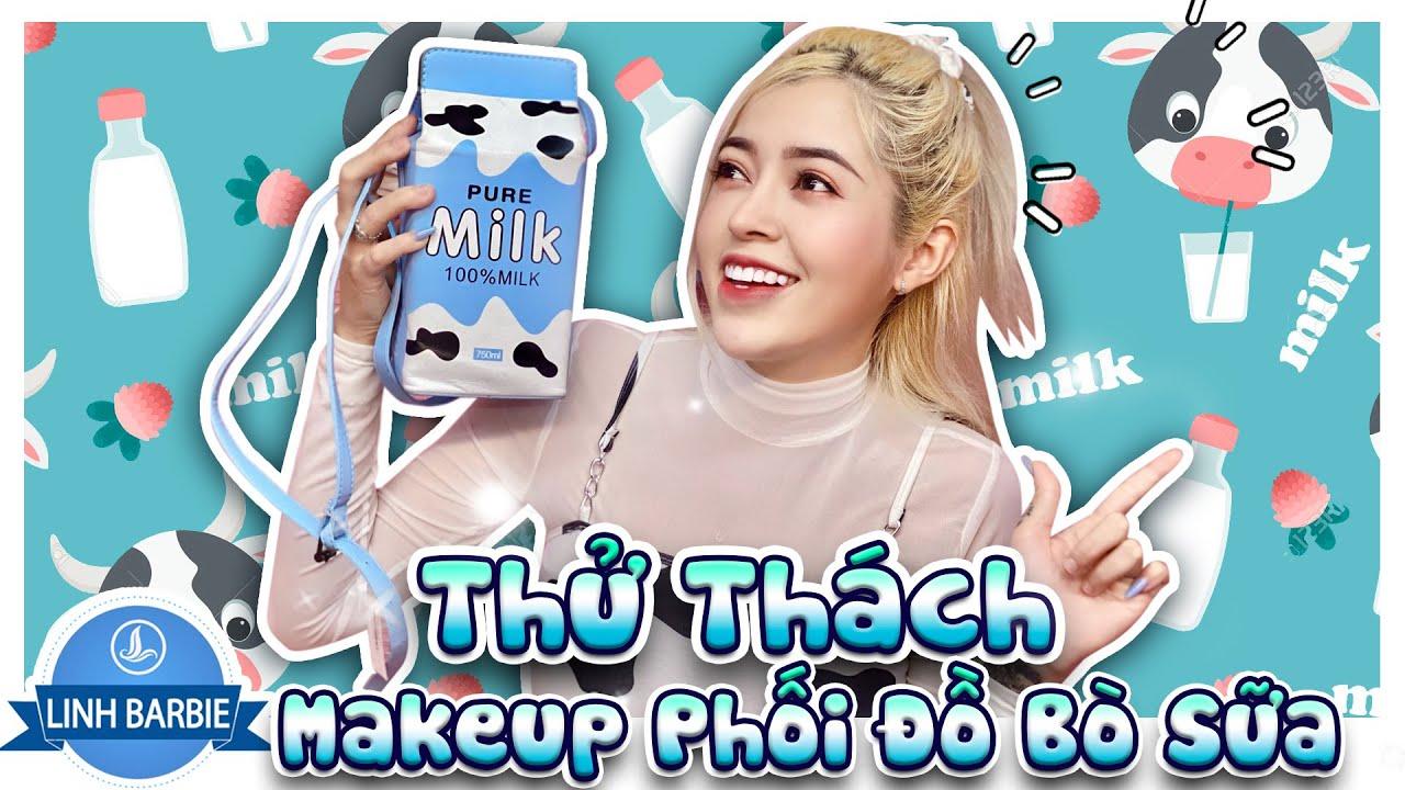 Thử Thách Makeup Và Phối Đồ Bò Sữa - Hot Trend 2021 I Linh Barbie Vlog