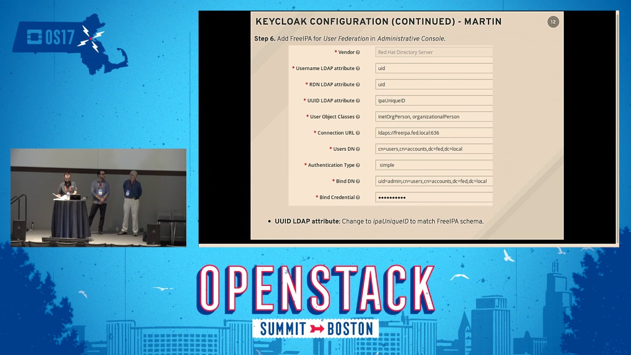 Federation with Keycloak and FreeIPA | OpenStack Summit Videos