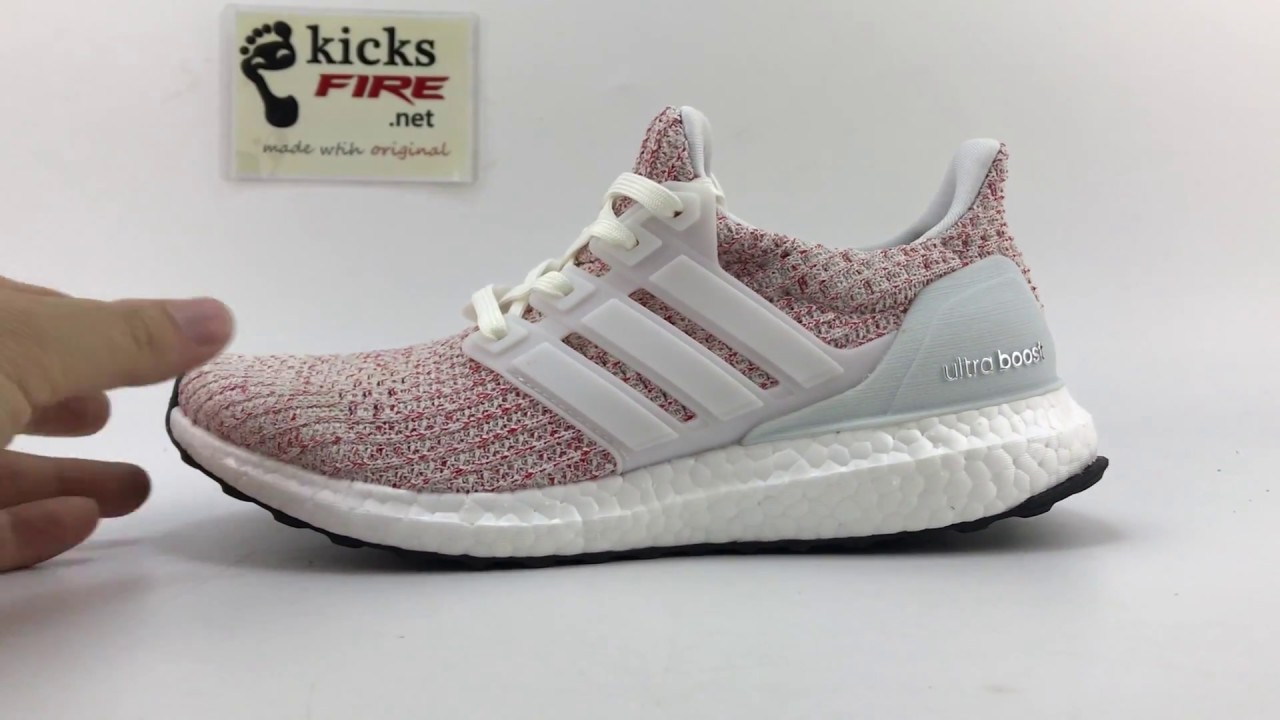 new concept 52c3f 49fa4 Adidas Ultra Boost 4.0 White Red BB6169 From Kicksfire.net