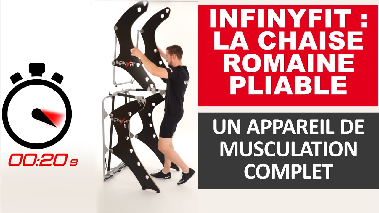 infinyfit chaise romaine pliable innovation musculation youtube. Black Bedroom Furniture Sets. Home Design Ideas