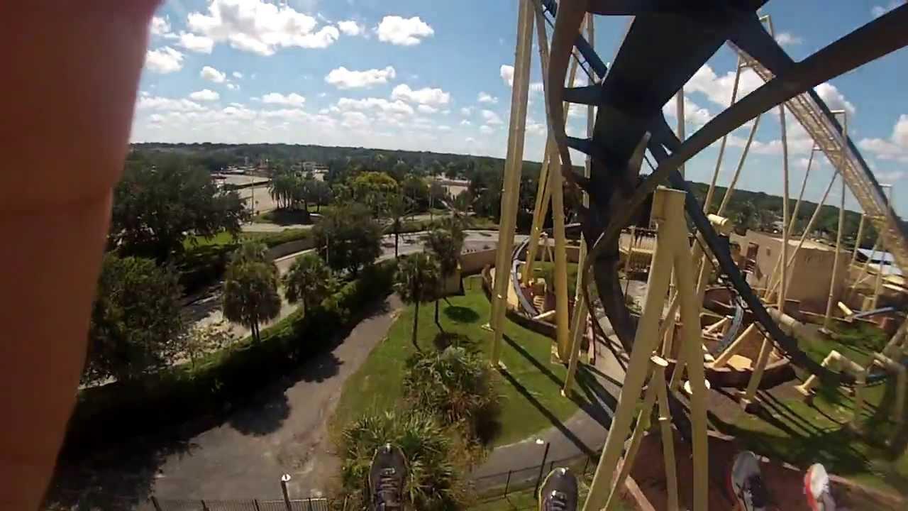 HD GoPro - Busch Gardens - Montu Roller Coaster - YouTube