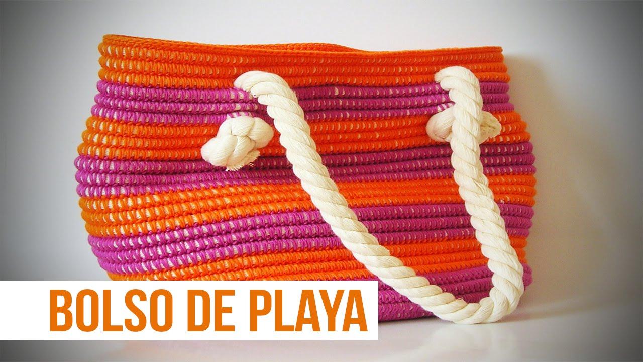 Como hacer bolsas de tejido bolsos de playa tejidos a - Como hacer bolsos tejidos ...