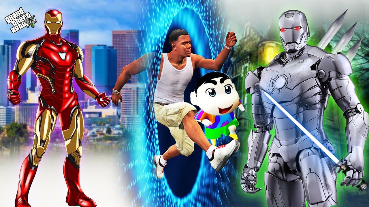 GTA 5 : Shinchan Travel Through Ironman Portal To Get Superpowers in GTA 5 ! (GTA 5 mods)