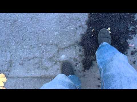 Bad road repair form the city of Montreal