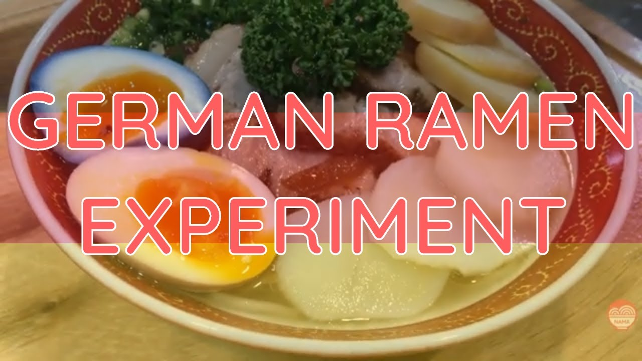 How to make GERMAN RAMEN - Ramen Experiment