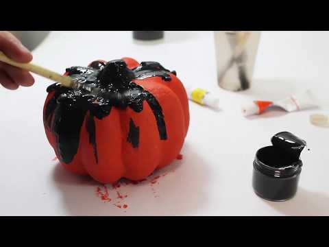 decorate your own paper mache pumpkin