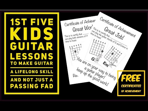 Kids First Guitar Lesson One Finger Chords First Lesson And Beyond