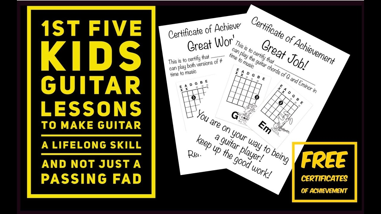 Kids First Guitar Lesson One Finger Chords A And Beyond