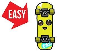 How to draw Fortnite【PEELY skateboard】Easy & Cute drawing|Jolly Art NEGI