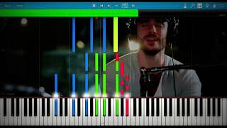 Jon Bellion - Woke The F*ck Up (Acoustic Full Version) | Synthesia Piano Tutorial