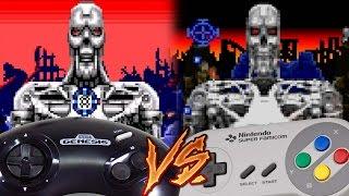 Sega Genesis Vs Super Nintendo - T2: The Arcade Game