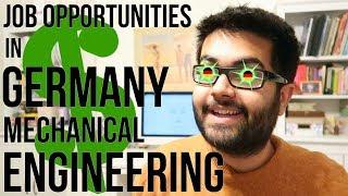 Job Opportunities in Germany: Mechanical Engineering