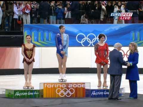 2006 Olympics Ladies Medal Ceremony (British Eurosport)