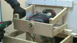 *mkds home made router lift electric (ηλεκτρικη ρύθμιση για τραπέζι   ρούτερ)