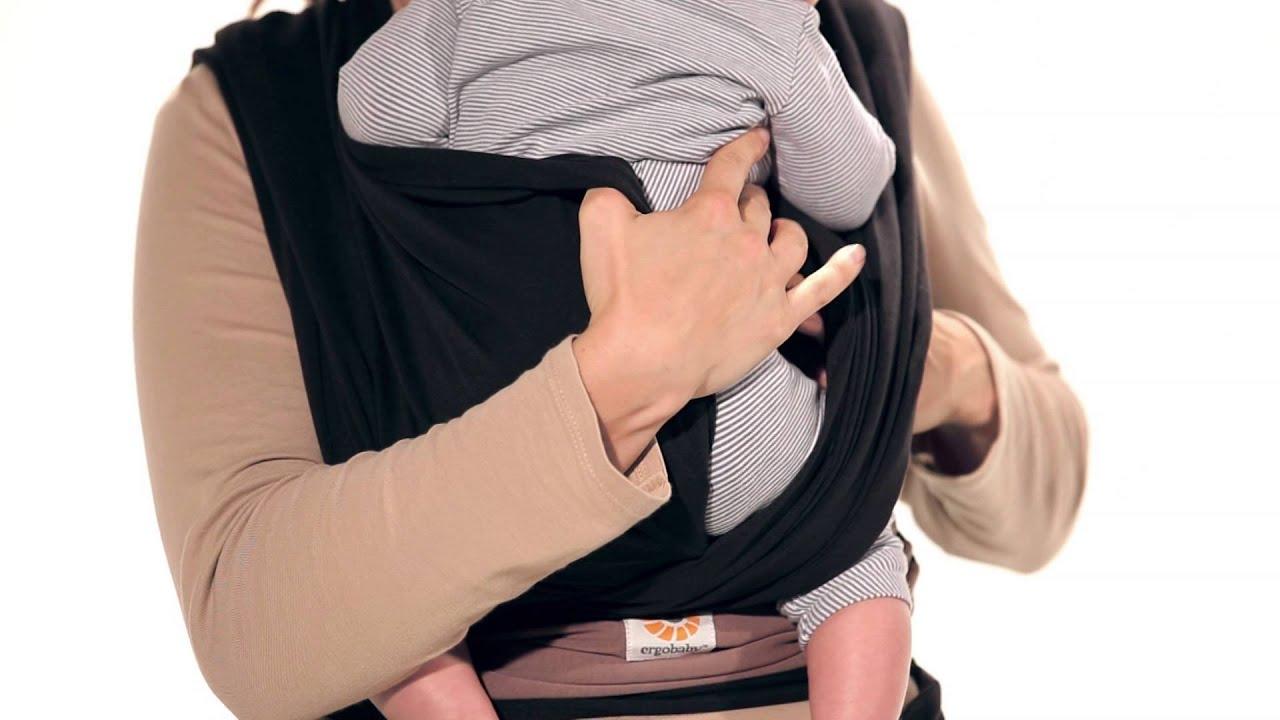 Instructions Ergobaby Wrap Basic Tie Infant 5 14 Kg Youtube