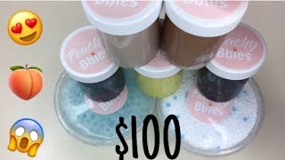 $100 @PEACHYBBIES SLIME PACKAGE REVIEW!!