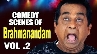 Best of Brahmanandam | Best Comedy Superhit Hindi Scenes - Vol.2