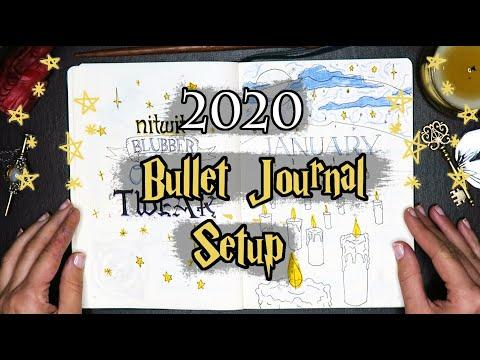 my harry potter bullet journal | 2020 setup & january