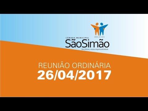 REUNIAO ORDINARIA 26/04/2017
