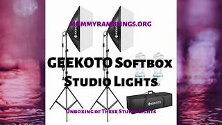 Geekoto Lights Softbox Studio Lights - Unboxing