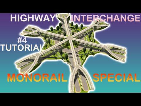 Highway Interchange Build Tutorial 4   Cities Skylines Tutorial   How to Build Highway Intersection?  