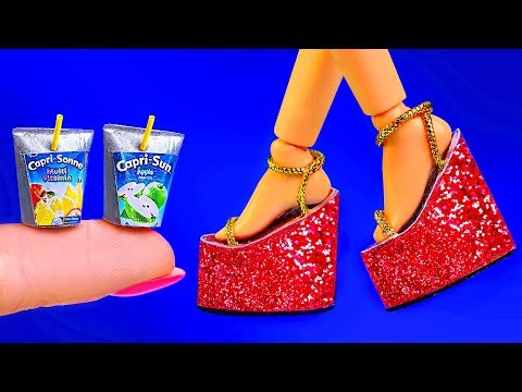 14 DIY Barbie Hacks And Crafts ~ Mini Phone, Pencil Case, Shoes, Try Ideas By Pipecleanercrafts B