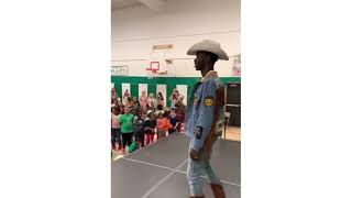 Lil Nas X performs For Elementry School Children